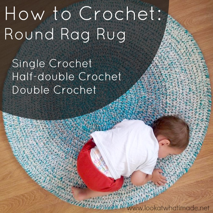 Learn How To Crochet A Round Rag Rug