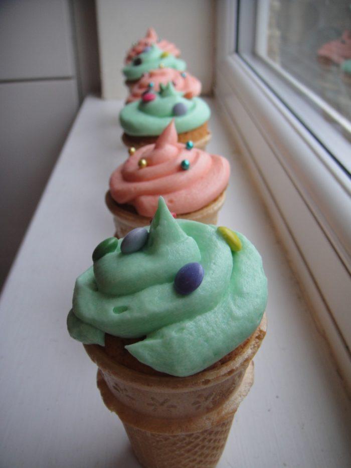 Ice Cream Cone Cupcakes Victoria Sponge