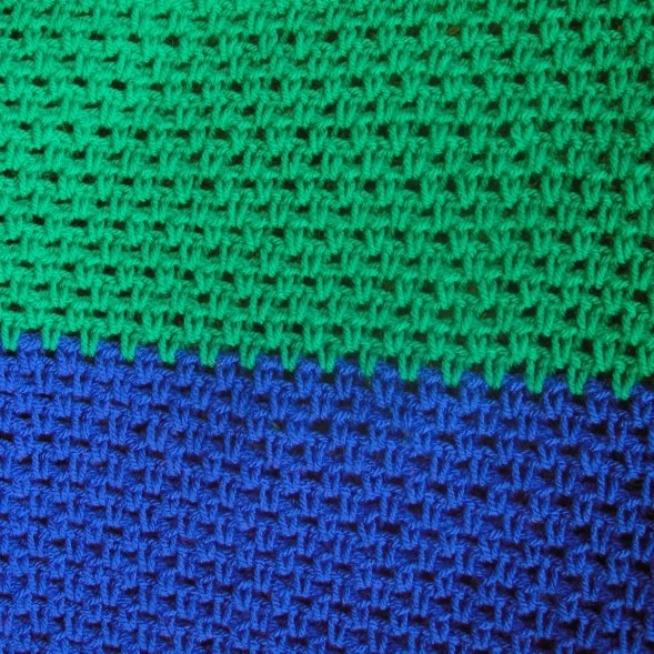 Linen Stitch Crochet Rainbow Blanket
