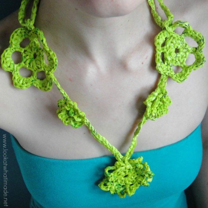 Plarn Crochet Necklace Pattern