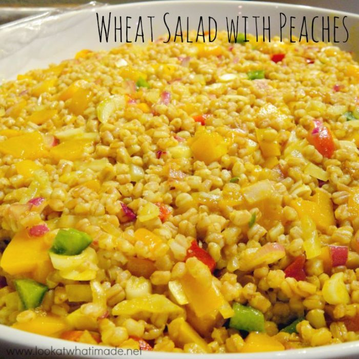Wheat Salad with Peaches
