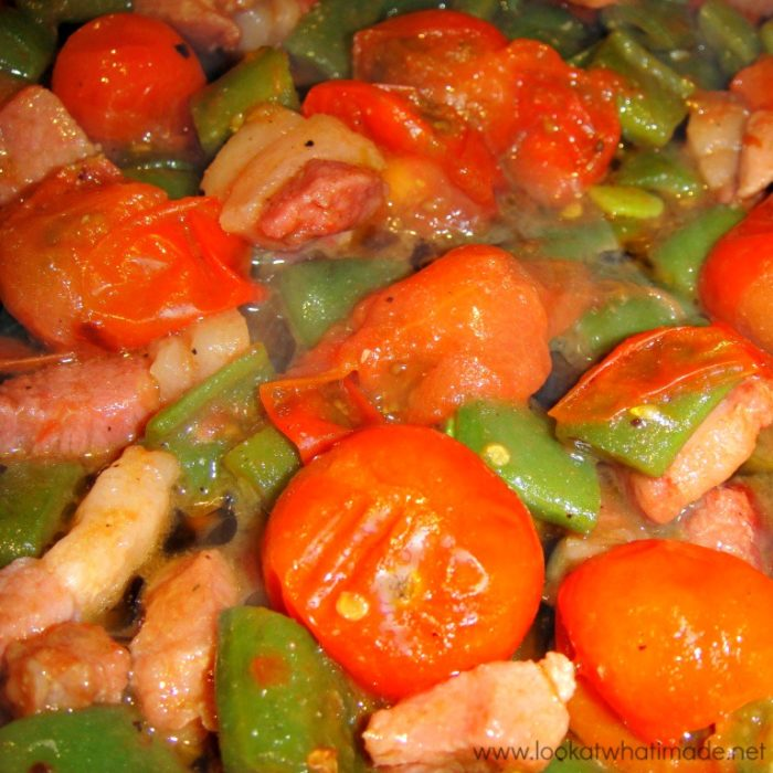 Green Beans and Pancetta Recipe Lookatwhatimade