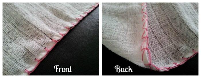Muslin:  Crochet Edge and Surface Flowers