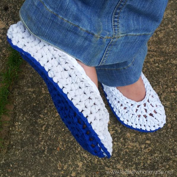 Lookatwhatimade Chunky Crochet Slippers T-shirt Yarn