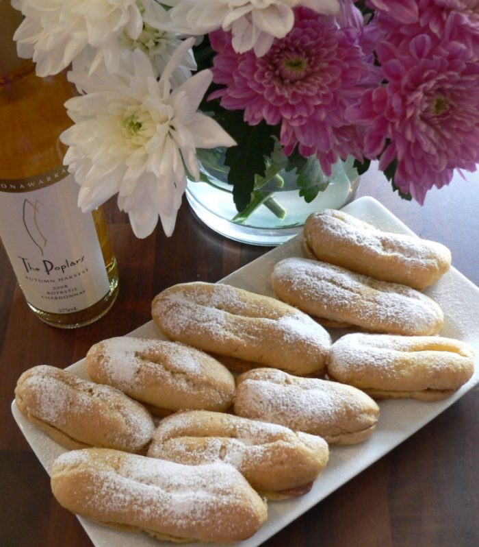 Choux pastry with creme patissiere