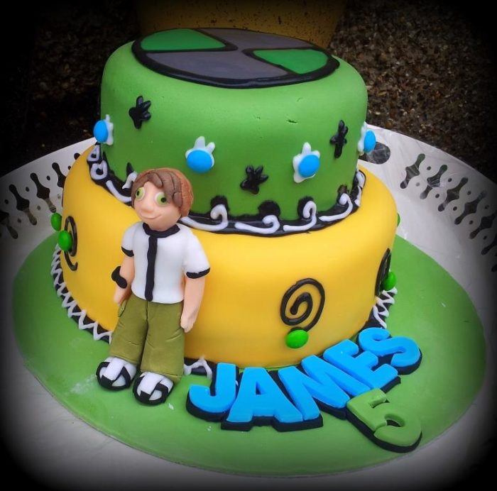 Brilliant Ben 10 Cake Look At What I Made Funny Birthday Cards Online Inifofree Goldxyz