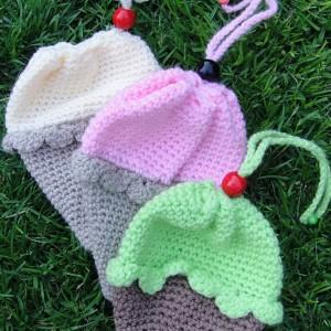 Crochet Ice-cream Cone Purse Cupcake (3)