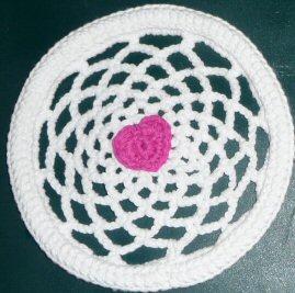 Grandma Perkins Amazing Crochet Doily Frisbee