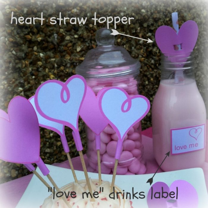 Heart Straw Toppers