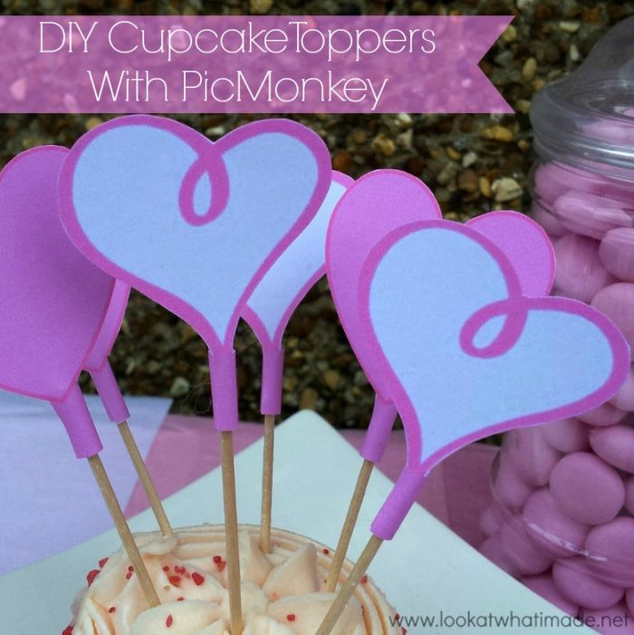 DIY Cupcake Toppers PicMonkey