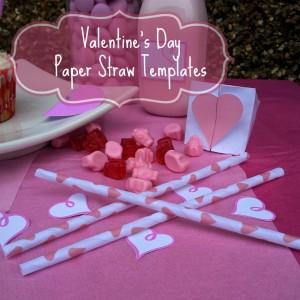 Valentines Paper Straw Templates