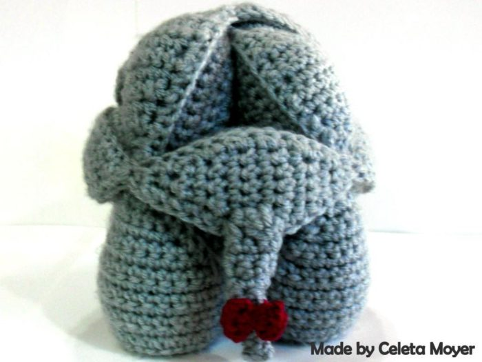 Rhinosaur Puzzle Crochet Bow Pattern