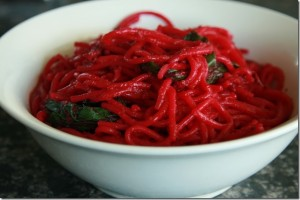 Roasted Beetroot Pasta