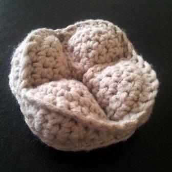 Crochet Kiwi Amish Puzzle Ball