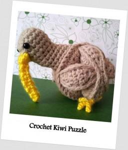Crochet Kiwi Puzzle Pattern Amamani