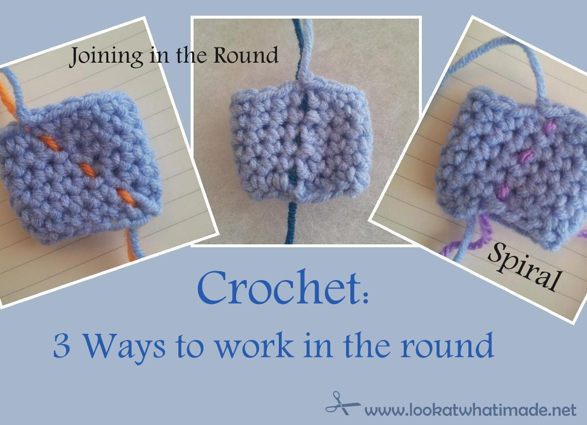 Crochet in the round spiral vs joining