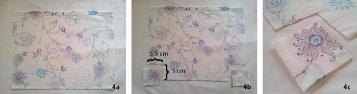 Fabric Liner for crochet stroller bag