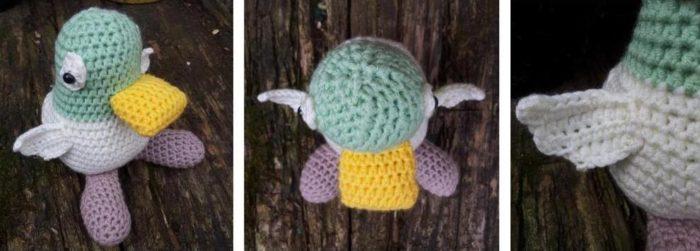 Crochet duck pattern by Jo Clark - Sarah and Duck