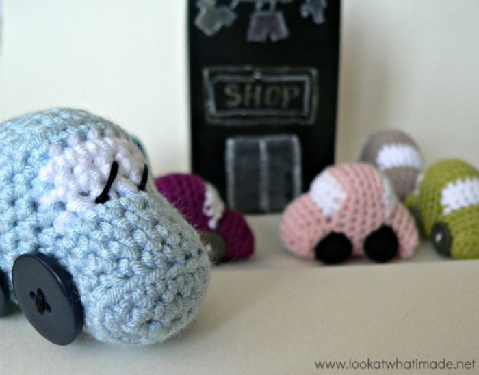 Tiny Crochet Cars
