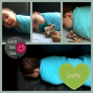 DIY Coloured Swaddling Blanket