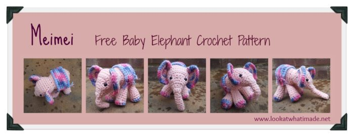 Tiny elephant amigurumi pattern - Amigurumi Today | 462x1195