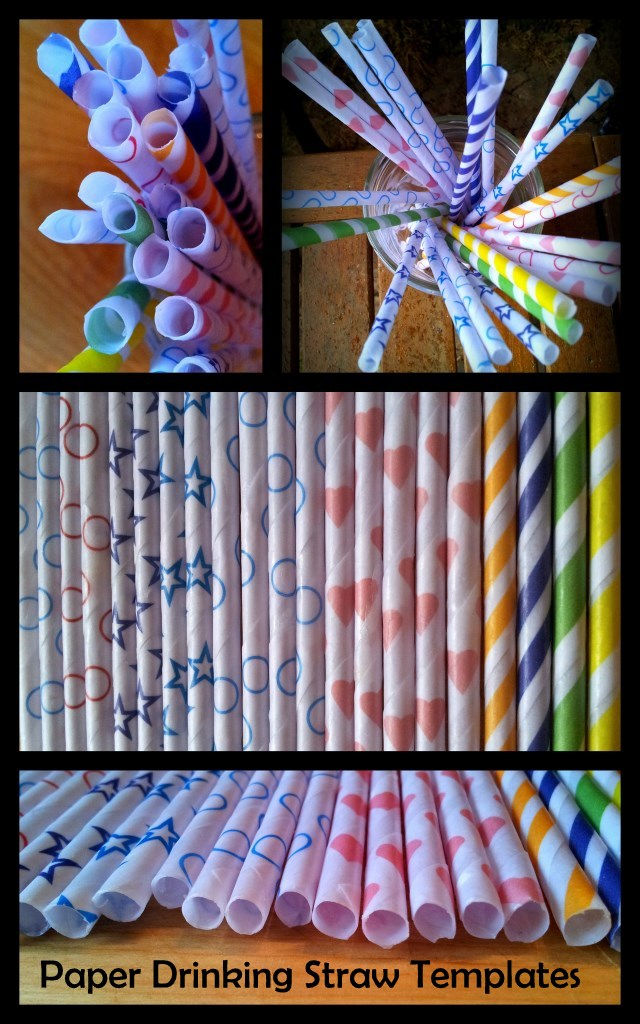 Paper Drinking Straw Templates