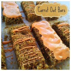 Carrot Oat Bars Recipe