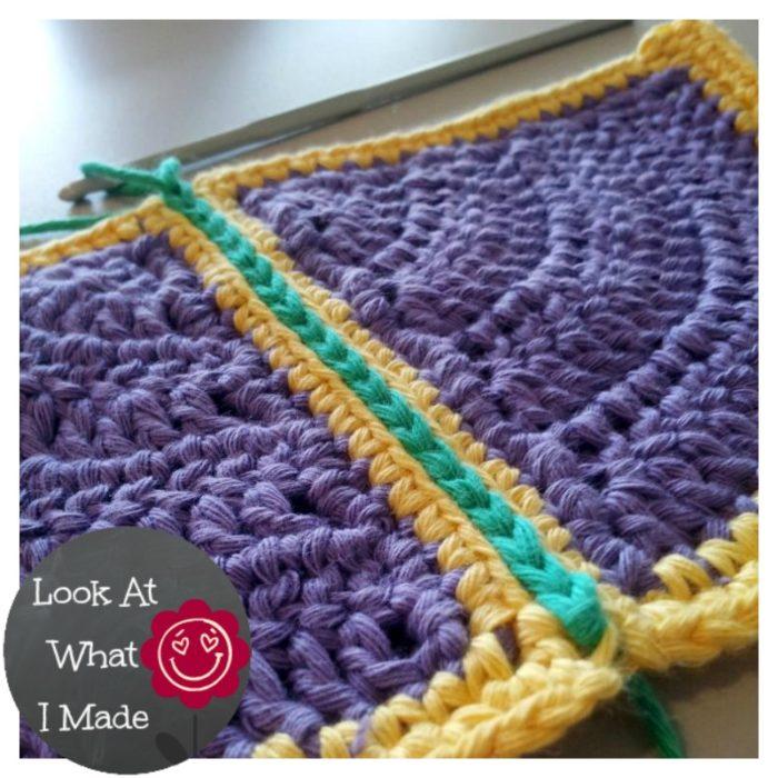 How To Join Crochet Squares Completely Flat Zipper Method