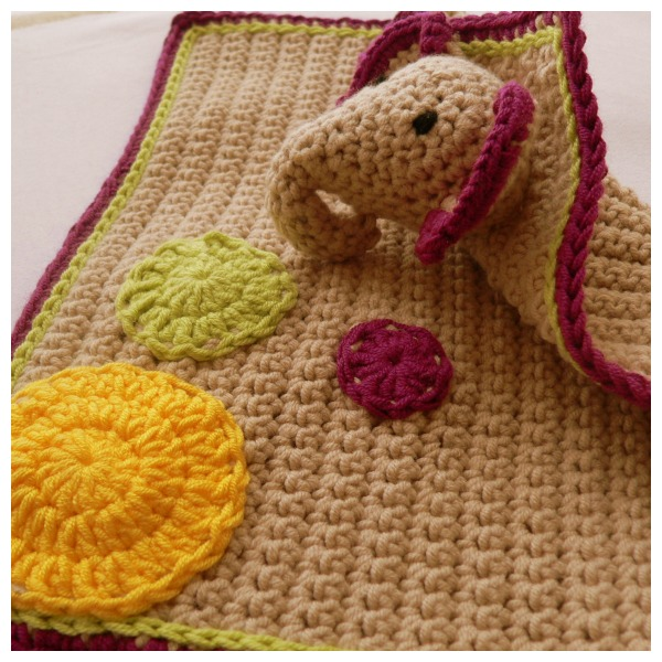 Crochet Elephant Lovie Pattern Lookatwhatimade