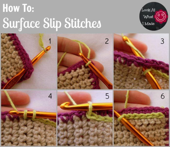 Surface Slip Stitches Crochet