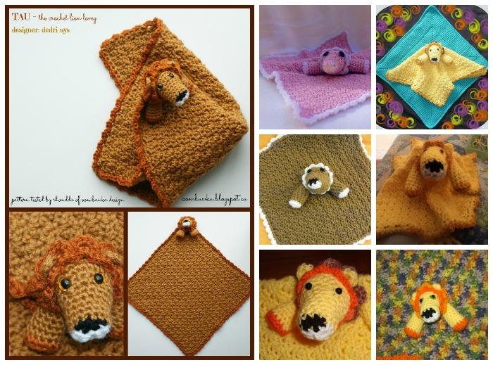 Tau Crochet Lion Lovie Testers