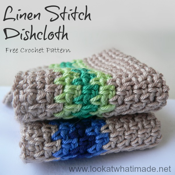 Crochet Linen Stitch Dishcloth