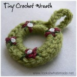 Tiny Crochet Wreath