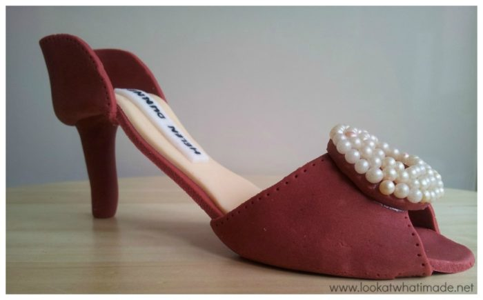 Gum Paste High Heel Shoe