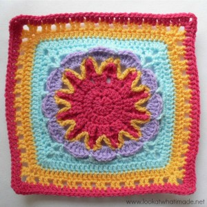 Starburst Flower Square Block a Week CAL 2014