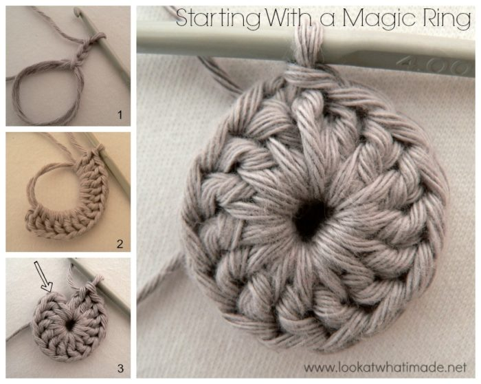 Blooming Lace Square Starting With a Magic Ring