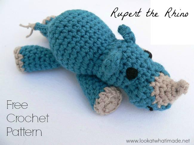Rupert FREE Crochet Rhino Pattern