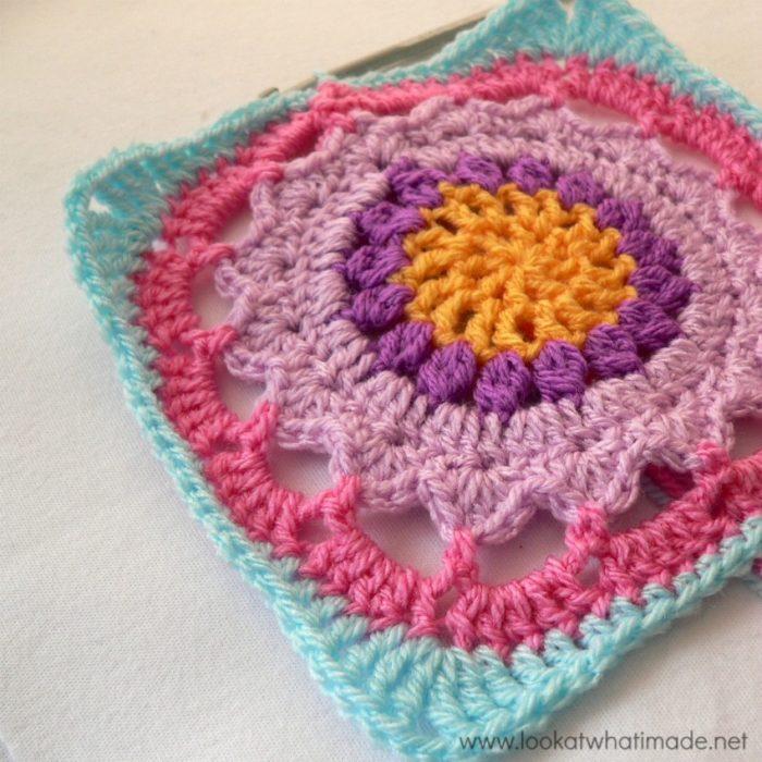 Starfire Crochet Square