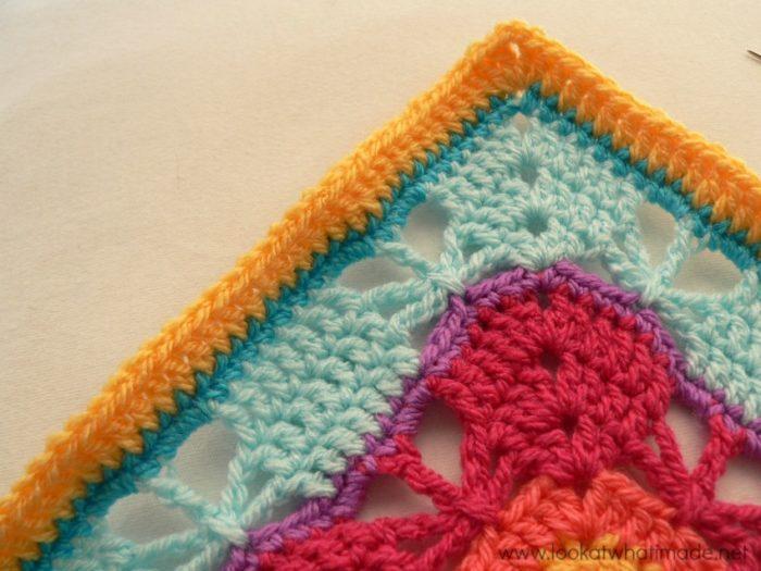Butterfly Garden Crochet Square