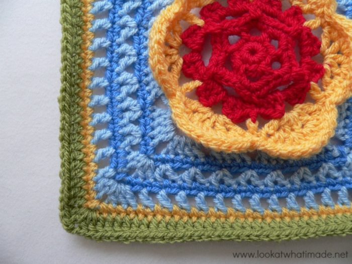 Kaleidoscope Blossom Crochet Square Photo Tutorial
