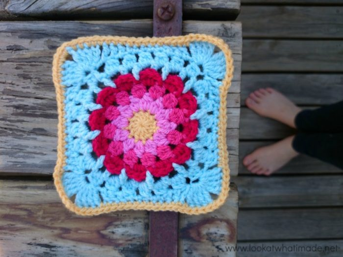 Autumn Clusters Crochet Square Photo Tutorial