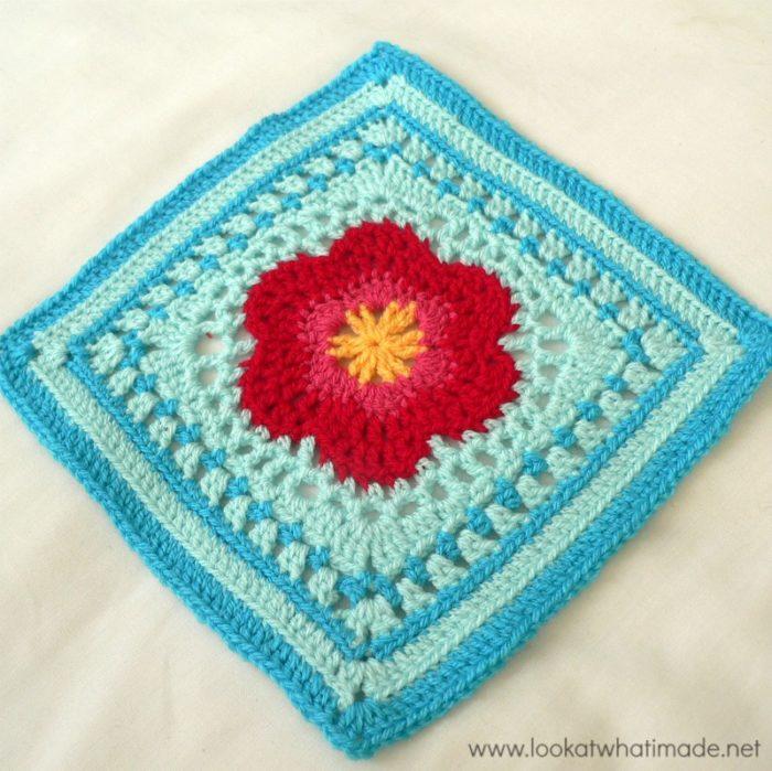 Lace Petals Crochet Square Photo Tutorial