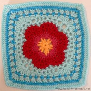 Lace Petals Crochet Square Photo Tutorial
