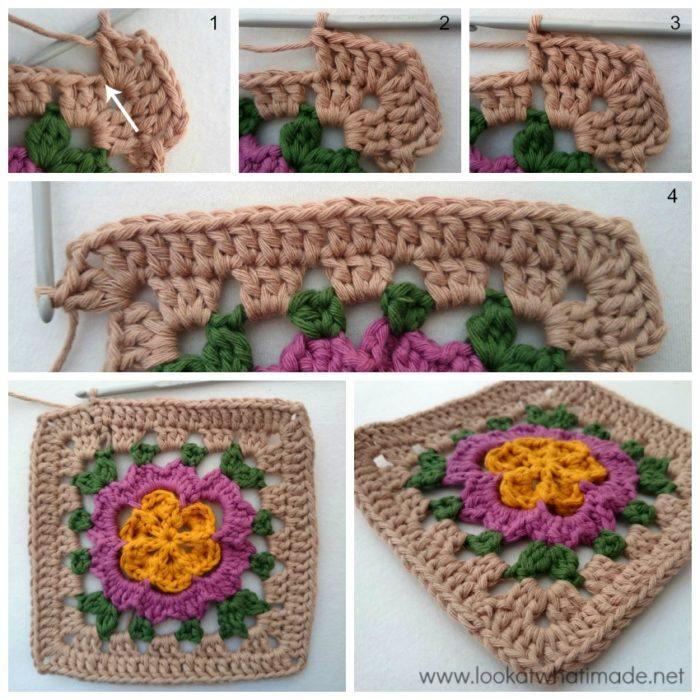 Veronica's Rose Crochet Square