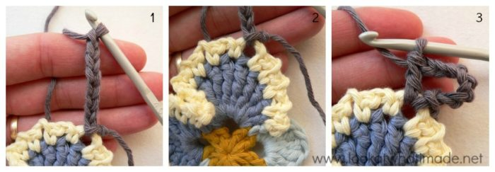 Granny's Crochet Pansy Triangle