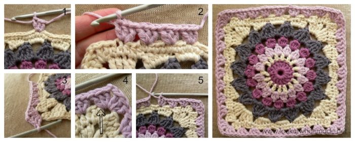 Kata Crochet Square Photo Tutorial