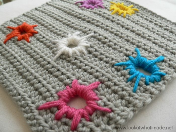 Crochet Square Scrap Yarn