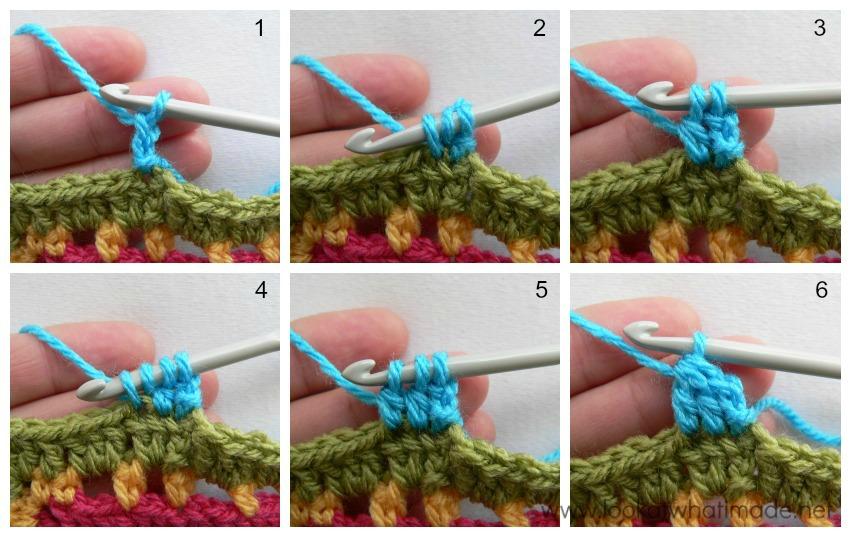 Crochet Cluster Stitch Dc3tog