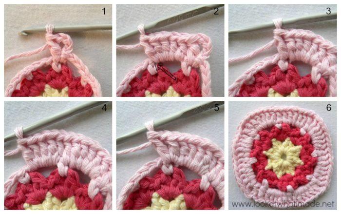Winter Dream Crochet Square Photo Tutorial