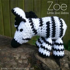 Zoe the Crochet Zebra Pattern Little Zoo
